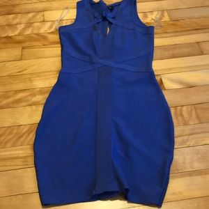 Guess blue body con dress